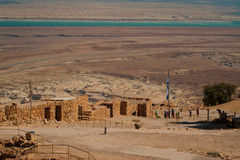 Руины крепости Masada Стоковое Фото