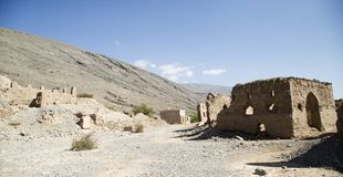 Руины кроме горы стоковое изображение rf