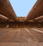 руины Ливана baalbeck римские Стоковое Фото
