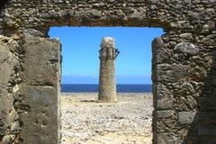 Руины маяка стоковое фото rf