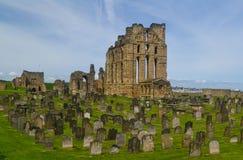 Руины монастыря и замка Tynemouth Стоковое Изображение RF