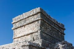 Руины на археологических раскопках Tulum, Quintana Roo, Мексике Стоковое Изображение RF