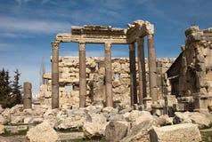 Руины на Баальбеке, Ливане Стоковые Фото