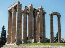 Руины на виске Зевса олимпийца Стоковые Изображения