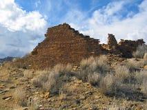Руины на парке каньона Chaco национальном историческом стоковая фотография