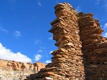 Руины на парке каньона Chaco национальном историческом стоковая фотография rf
