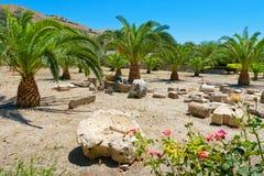 Руины на Gortyna Крит Греция стоковое фото