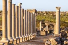Руины на Perge, Турции стоковое фото rf