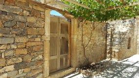 Руины на spinalonga в Крите Стоковые Изображения RF