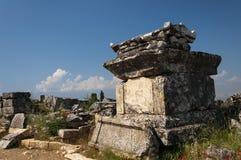 Руины некрополя Northem Hierapolis, Турции Стоковые Фотографии RF