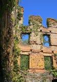 Руины новой мельницы компании обрабатывающей промышленности Манчестера на парке штата заводи Sweetwater в Georgia Стоковые Фото