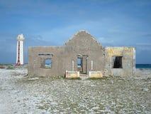 Руины дома маяка и хранителя Стоковое Изображение