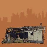 Руины дома иллюстрация штока