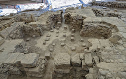 Руины дома Eustolios на Kourion на Кипре Стоковое Фото