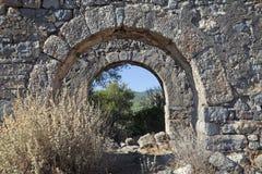 Руины острова Gemiler, Турция Стоковые Фото