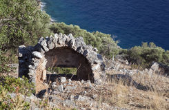 Руины острова Gemiler, Турция Стоковое фото RF