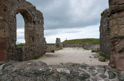 Руины острова Llanddwyn Стоковое Изображение RF