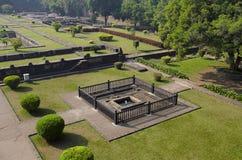 Руины парка, Shaniwar Wada Историческое городище построенное в 1732 и месте из Peshwas до 1818 Стоковое Фото