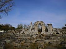 Руины Пекина Yuanmingyuan стоковое изображение