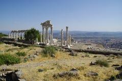 Руины Пергама, места рождения Гиппократа Стоковые Изображения
