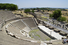 Руины Пергама, места рождения Гиппократа Стоковое Фото
