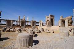 Руины персиянки на Persepolis в северовосточном Ширазе, Иране Стоковая Фотография RF