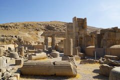 Руины персиянки на Persepolis в Ширазе, Иране Стоковое фото RF