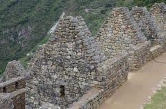 Руины Перу Machu Picchu на горном склоне в Андах Стоковые Фотографии RF