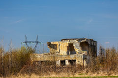 Руины покинутых зданий Стоковое Изображение RF