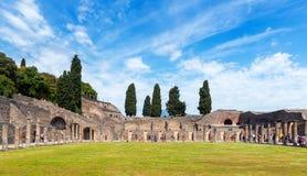 Руины Помпеи, Италии Стоковая Фотография