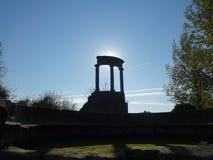 Руины Помпеи получая готовый для захода солнца Стоковая Фотография RF