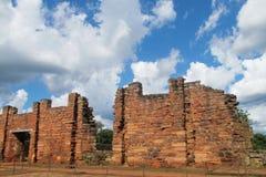 Руины полета Сан Ignacio в Аргентине Стоковая Фотография