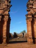 Руины полетов san ignacio иезуита мини в misiones в Аргентине Стоковое Изображение RF