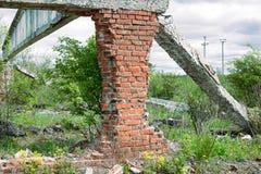 Руины промышленного здания Стоковая Фотография RF