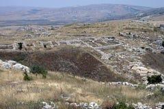 руины прописного hattusa хеттские старые Стоковые Фото