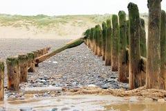Руины пляжа Стоковая Фотография RF