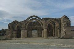 Руины района Sozomenos Никосии ажио Кипр Стоковое Фото