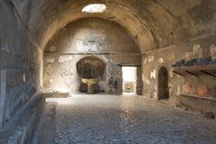 Руины раскопк Геркуланума стоковое изображение rf