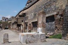 Руины раскопк Геркуланума стоковое изображение