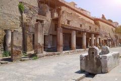 Руины раскопк Геркуланума стоковые изображения