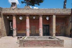 Руины раскопк Геркуланума стоковые фото