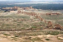 Руины древнего города пальмиры - Сирии Стоковое фото RF