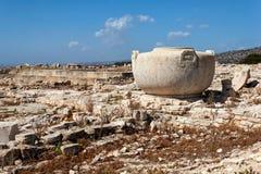 Руины древнего города Amathus, около Лимасола, Кипр Стоковые Фото