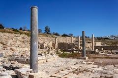 Руины древнего города Amathus, около Лимасола, Кипр Стоковая Фотография RF