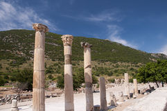 Руины древнего города Ephesus, Selcuk, Турции Стоковое Фото
