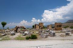 Руины древнего города Hierapolis, Турции Стоковые Изображения RF