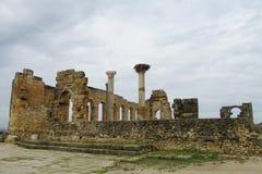 Руины древнего города, Volubilis, Марокко Стоковые Изображения