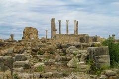 Руины древнего города, Volubilis, Марокко Стоковое Изображение RF