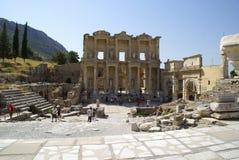 Руины римского городка Ephes, в Турции Стоковая Фотография RF
