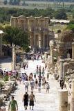 Руины римского городка Ephes, в Турции Стоковое Изображение